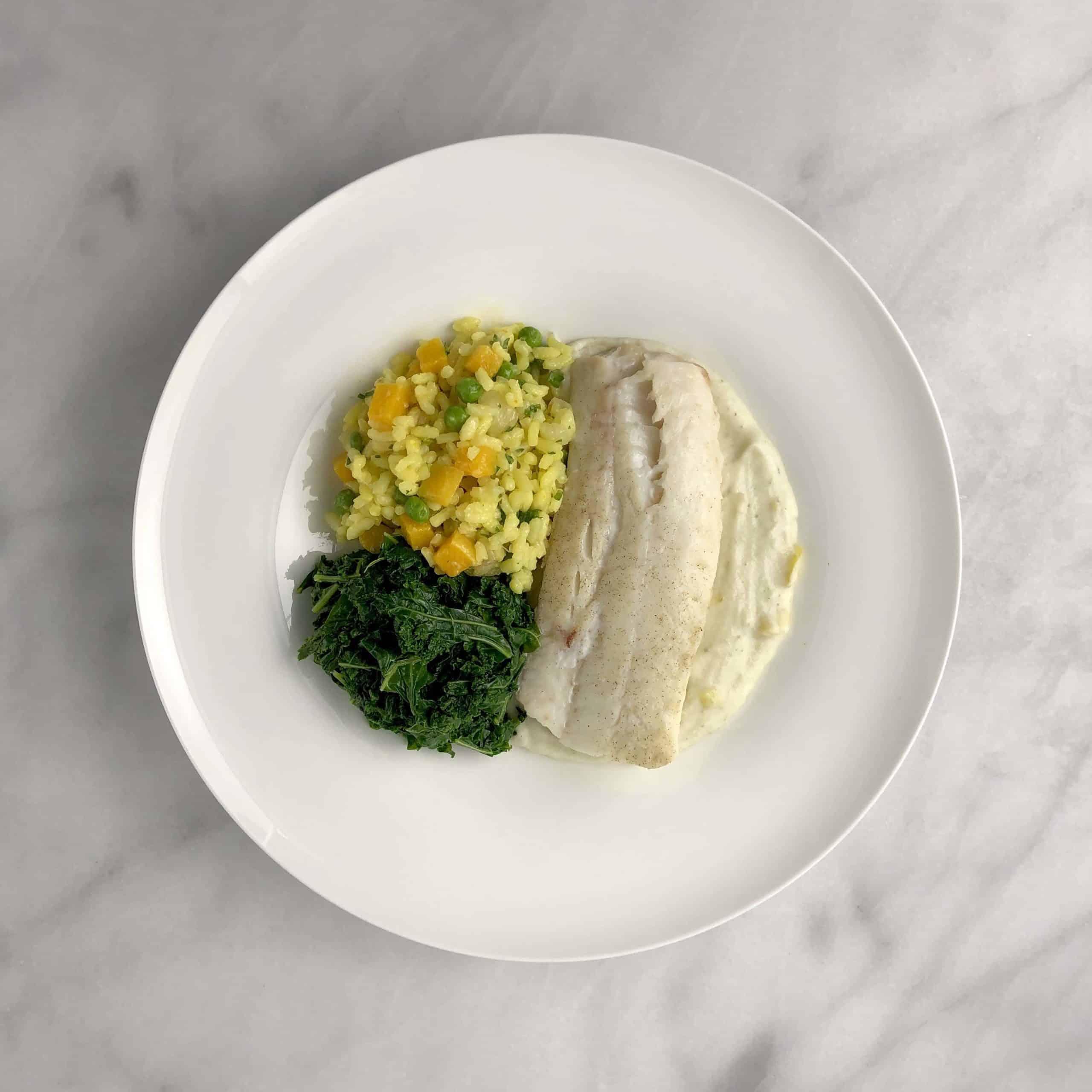 Cod Loins with Leek Sauce