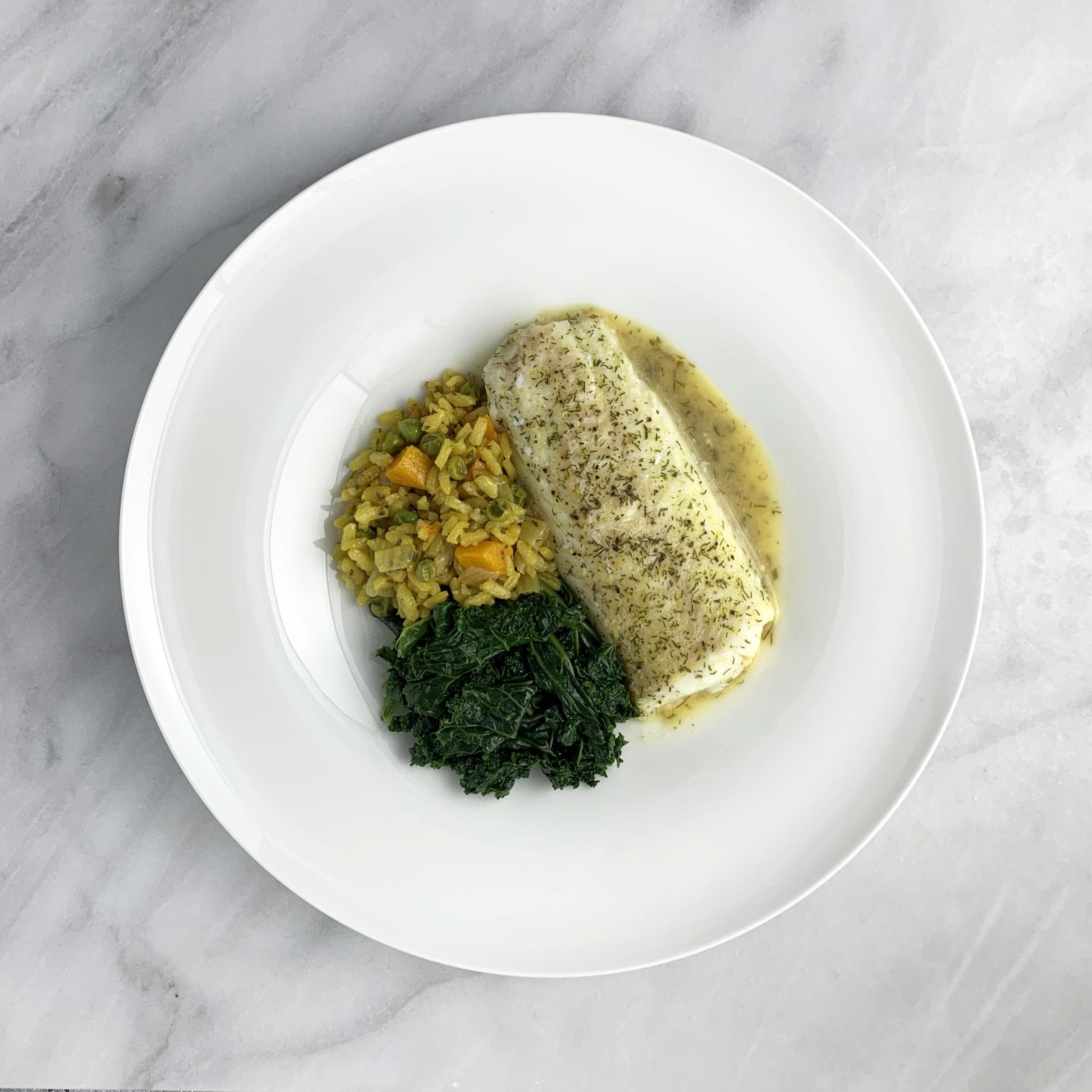 Cod Loins with Orange Herb Sauce
