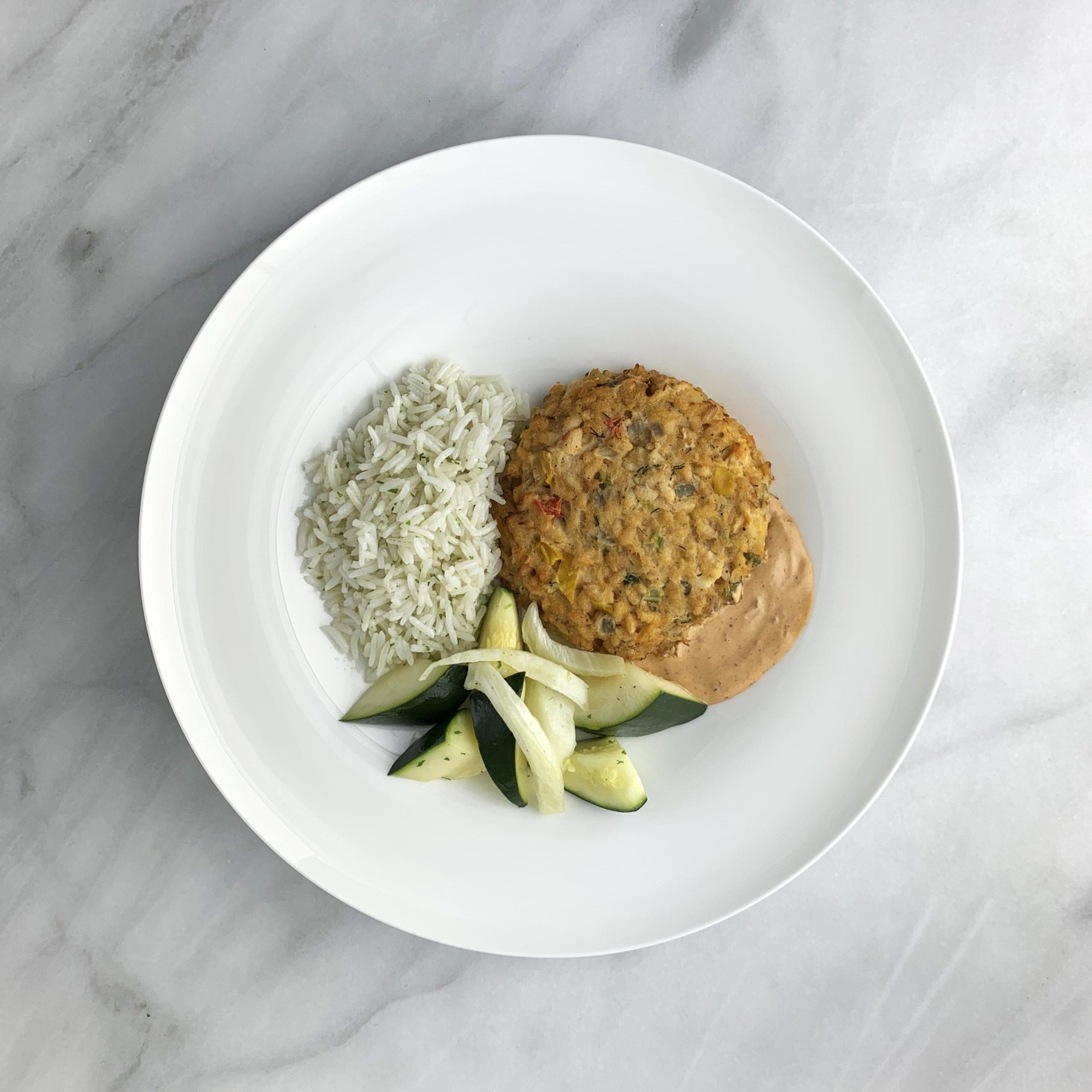 Fish Cake with Chipotle Aioli